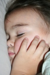 Sweet baby angel face sleeping