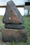 A black cairn for Jason A Baines