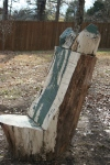 Paint layer on wooden chair