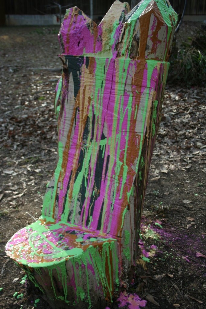 Day 1 Bright Paint on Wood