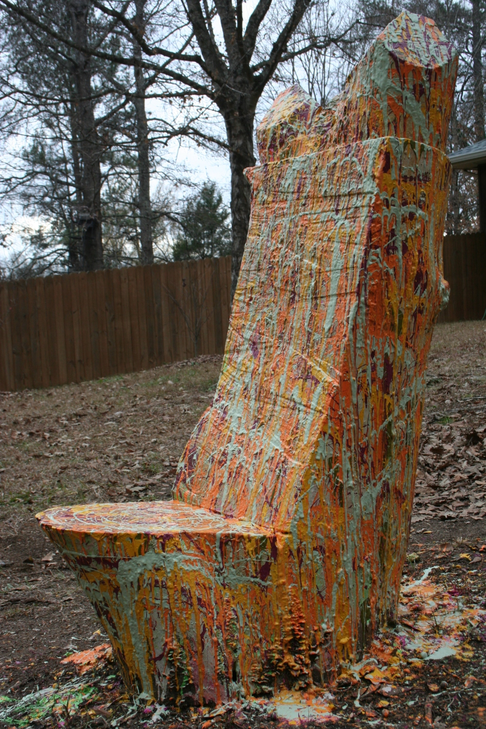Painted Wooden Fire Chair