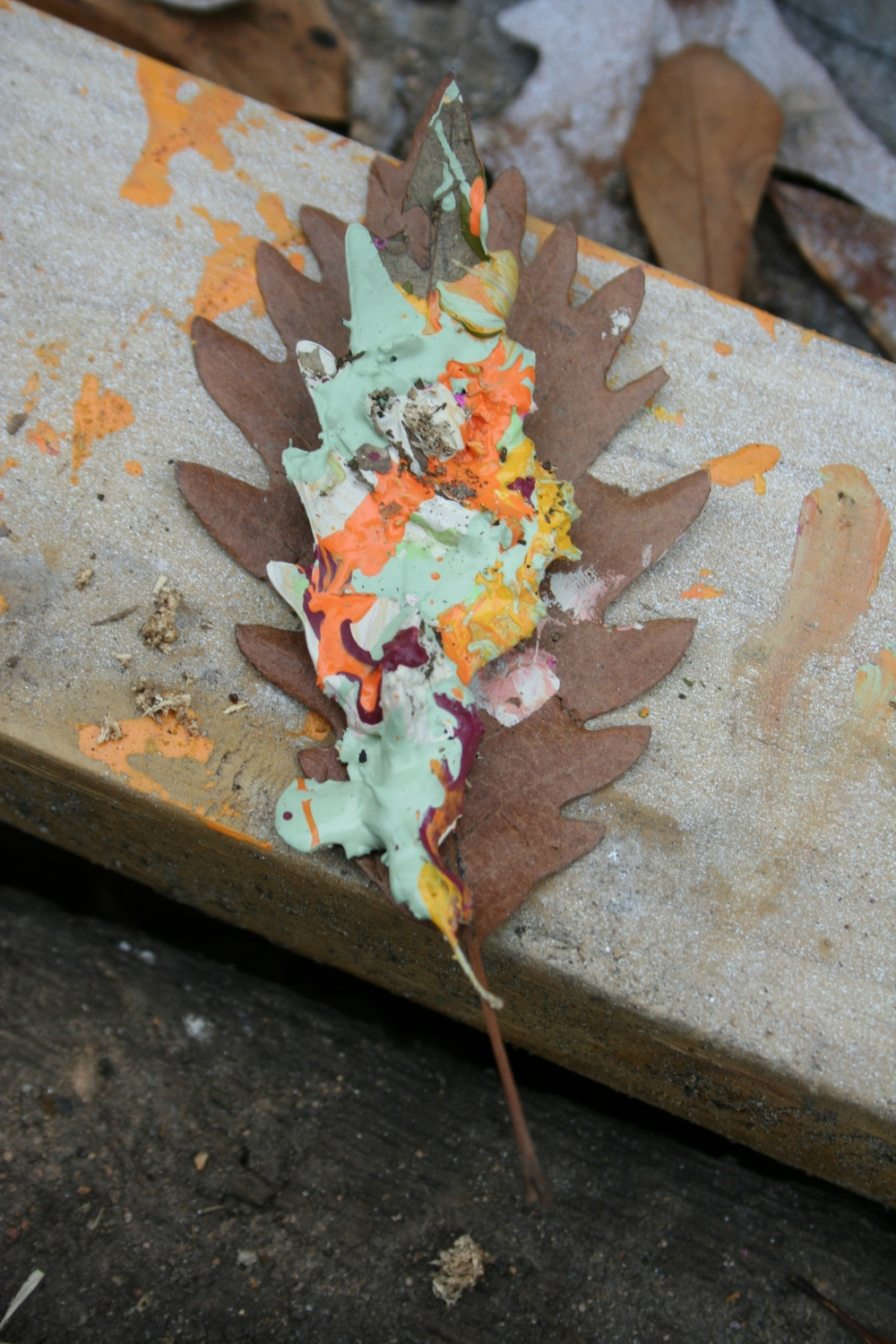 Winter leaves in color