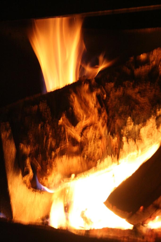 Flames erupt into warmth